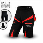 MTB Cycling Shorts,Cycle,Mountain Bike,RED,CoolMax Padded Inner Lycra Liner