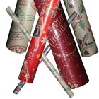 4 x Christmas Wrapping Paper Roll: 12 Styles (Xmas Festive Gift Print Wrap)