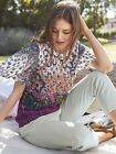 Ex White Stuff Ladies 'Essence' Abstract Sketch Floral Tunic Top Blouse 8-14