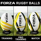 FORZA Zenvo Rugby Ball | Rugby Match Training Ball | Pro Standard Ball | 3 Sizes
