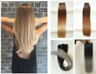 Ombre One Piece Half Head, 6pcs Full Head Clip in Hair Extensions, Ponytail