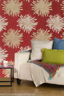 Red, Cream & Gold, Floral Design, Featurewall Wallpaper By Rasch