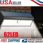 62 LED Solar Power Motion Sensor Wall Light Yard Outdoor Garden Waterproof Lamp
