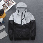 Men's Reflective Jacket Hoodie Hooded Biker Hip Hop Dance Coat Windbreaker xxf