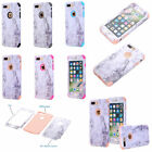 For IPhone 7 Plus Marble Hybrid Hard PC Soft Rubber Phone Case For IPhone 6 Plus