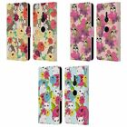 HEAD CASE DESIGNS FLORAL & ANIMAL PATTERN LEATHER BOOK CASE FOR SONY PHONES 1