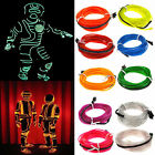 Flexible LED Light EL Wire String Strip Rope Glow Decoration Lamp USB Controlle