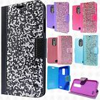 For ZTE ZMAX PRO Premium Bling Diamond Wallet Flip Pouch Cover +Screen Protector