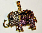 VARIETY OF BRASS & SILVER TONE ELEPHANTLONG PENDANT NECKLACES
