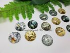Cog Glass Cabochons ~ Mixed Cogs Design ~ Choose Size, Qty, Steampunk Gears