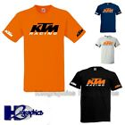 KTM RACING MOTORCYCLE MOTORBIKE TRIBUTE T SHIRT CHOICE OF COLOURS  AND SIZES