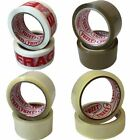 4 Rolls Yuzet PACKING TAPE brown clear fragile printed buff sealing box carton