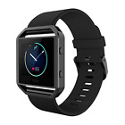 Replacement Band For Fitbit Blaze Watch With Metal Frame Large Silicone Strap