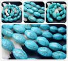 "10X16mm  12X20MM Blue Howlite Turquoise Six Faces Gems Spacer Beads 16"" T0157"