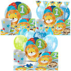Blue One is Fun 1st Birthday Party Pack Tableware Kits - For 8 or 16 Guests