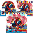 Spider-Man Homecoming Kids Birthday Party Pack Tableware Kits - 8 or 16 Guests
