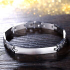 Mens Stainless Steel Identity Bracelet Engraved Personalised Christmas Gifts