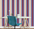 Cream, Red & Blue Striped Wallpaper ++£8.99 per roll inc P&P++