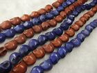 10x12MM Brown /Purple Turquoise Skull Head Howlite Gems Spacer Beads  32PCS