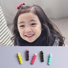 1 Pair Kids Girls Hair Clips Hairpin Colorful Plush Ball Hair Clips Hairwear New