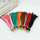 Women Leather Tassel Charm Key Chain Keyring Pendant Handbag Bag Accessory NEW