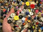 New lots of 200 Buttons assorted mixed color and sizes bulk 1/4 inch to 3/4 in.