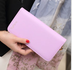Fashion Women Leather Bifold Simple Faux Wallet Storage Purse Clutch Card