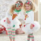 childs santa outfit - Christmas Kids Baby Girls Santa Snowman Xmas Party Fancy Outfits Romper Dress
