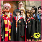 Harry Potter Cosplay Costume Adult Child Cloak Cape Gryffindor Robe Tie Scarf US