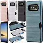For Samsung Galaxy Note 8 Brushed Hybrid Card Case Phone Cover Accessory