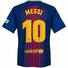 Messi #10 Barcelona Man Short Sleeve Football / Soccer Jersey Available S to XL