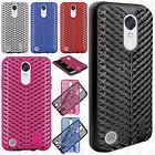 For LG Harmony Zig Zag Shockproof Hybrid Rubber Silicone Cover + Screen Guard