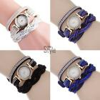 Women Watch Round Fashion Jewerly Rhinestone Analog Buckle Quartz Battery T