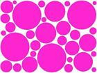 Mixed Circles, Self Adhesive Sticky Stickers Labels, Lots of colours available !