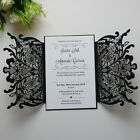 50-Personalized Laser Cut Wedding Invitation Cards with Envelopes,Free printing