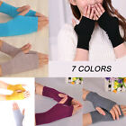 Women Soft Cashmere Fingerless Warm Winter Gloves Hand Wrist Warmer Mitten Pop