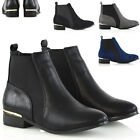 Womens Chelsea Boots Elasticated Gusset Ladies Flat Pixie Casual Ankle Booties