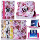 360 Rotating Happy Flower Flip Leather Smart Case Cover Stand For iPad 2 3 4 Gen