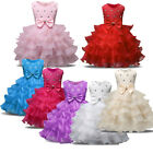 USA Kid Girl Diamond Chiffon Wedding Bridesmaid Party Pageant Formal Dresses Hot