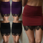 Sexy Women Formal Lace Stretch High Waist Short Bodycon Mini Skirt Pencil Dress