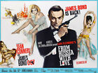 From Russia With Love - James Bond - 1964 - Movie Poster $32.99 USD on eBay