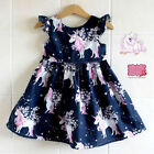 Baby - US Stock Infant Kid Girl floral Unicorn printed Casual Dresses One-Piece Costume