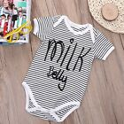 Newborn Toddler Baby Boys Girl Romper Jumpsuit Bodysuit Striped Clothes Outfit