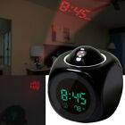 Multifunction Voice LCD Projection Alarm Clock Time&Temp Display Convenient