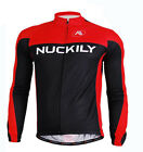 Red Men's Long Sleeve Cycling Jersey Top Bike Bicycle Jersey Shirt Reflective