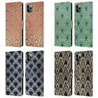 HEAD CASE TEXTURED ART DECO PATTERNS LEATHER BOOK CASE FOR APPLE iPHONE PHONES