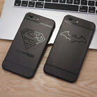 Hollow Painted Super man Iron Man Trendy Soft Case Cover For iPhone 6 7 8 X Plus