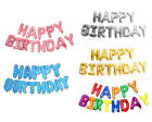 16' Large 13pc Happy Birthday Balloon Banner Foil Letters Party Decoration