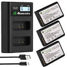 LP-E10 Battery & LCD Charger for Canon Rebel T3 T5 T6 Kiss X50 EOS 1100D 1300D