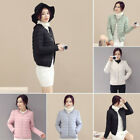 Stylish Winter Women's Slim Long Sleeve Short Down Coat Jacket Quilted Outwear